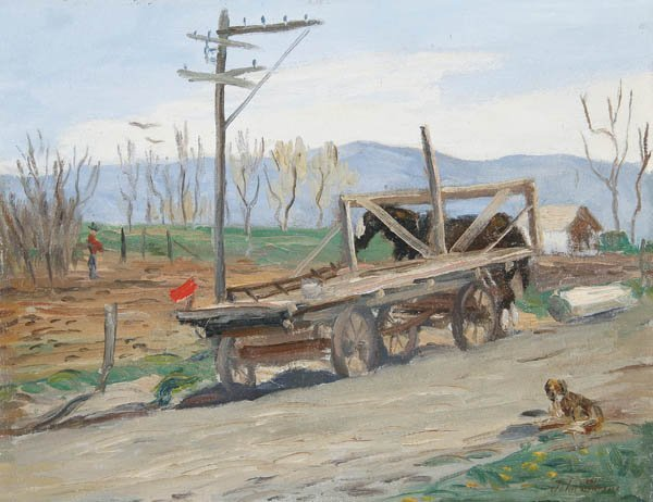 560: JOHN FRENCH SLOAN (American 1871-1951) A Rural La
