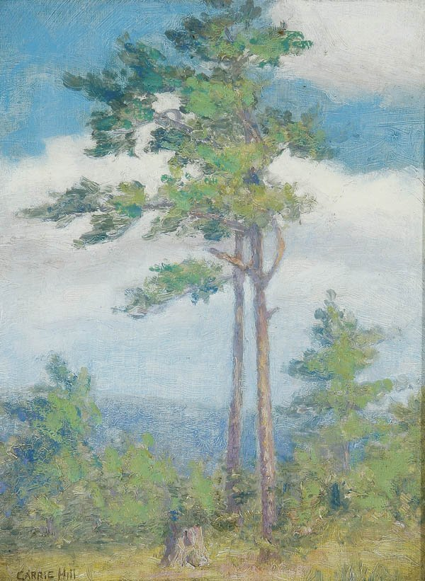 566: CARRIE HILL (American 1875-1957) Spring Landscape