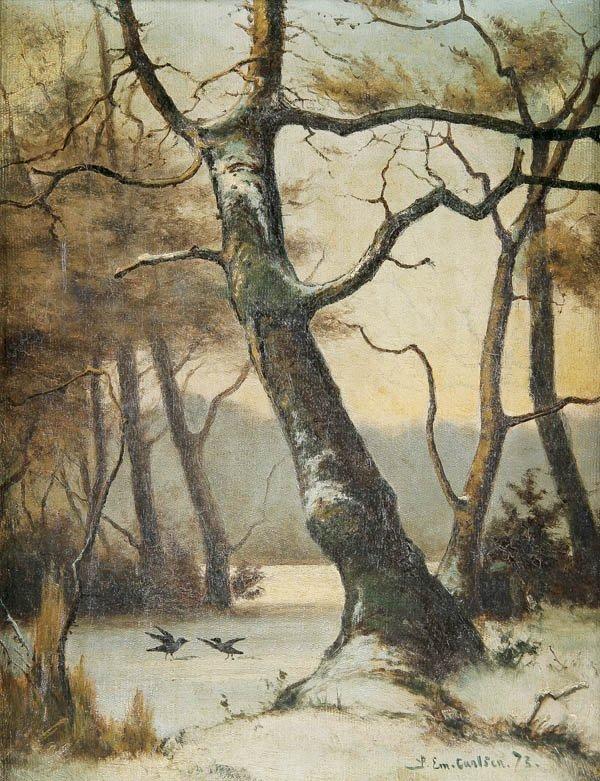567: EMIL CARLSEN (American 1853-1932) Winter Landscap