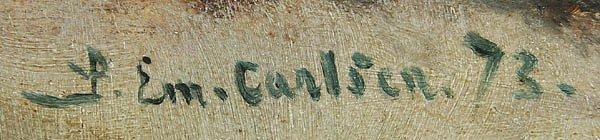 567: EMIL CARLSEN (American 1853-1932) Winter Landscap - 2