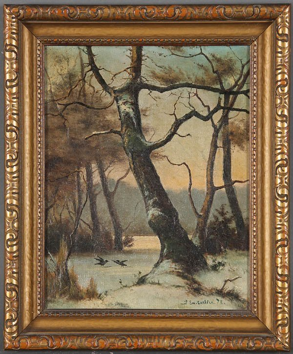 567: EMIL CARLSEN (American 1853-1932) Winter Landscap - 3