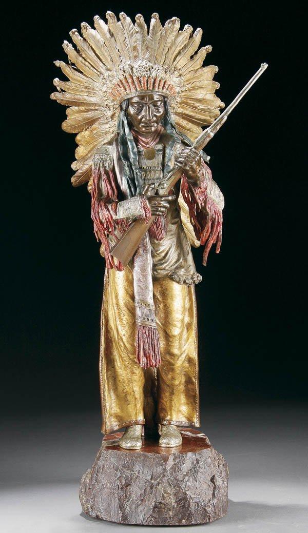 571: CARL KAUBA (Austrian/American 1865-1922) A Sioux