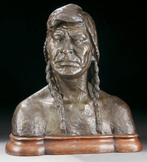 572: OLYMPO BRINDESI (American 1897-1965) Bust of an I