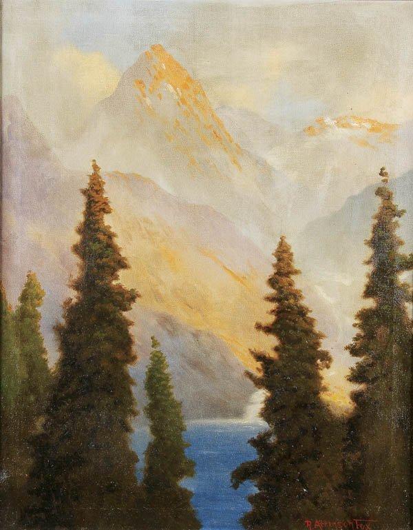 578: ROBERT ATKINSON FOX (American 1860-1927) Mountain