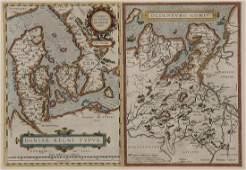 12 VINTAGE MAPS OF WESTERN EUROPE C 1598