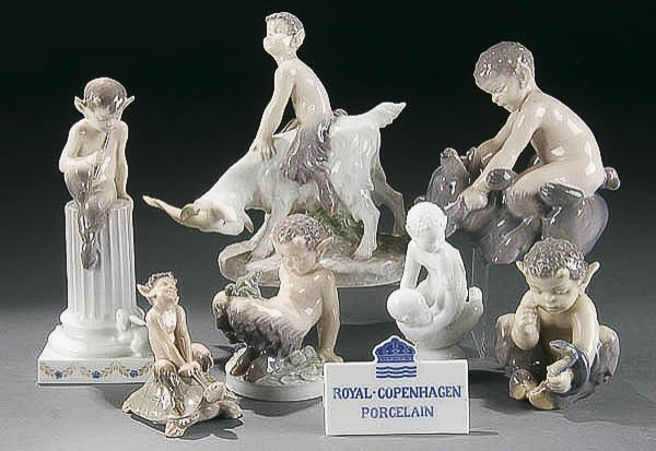 "244: ROYAL COPENHAGEN ""FAWN"" PORCELAIN FIGURES"