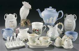 338 12PIECE VINTAGE PORCELAIN GROUP early to mid 20t
