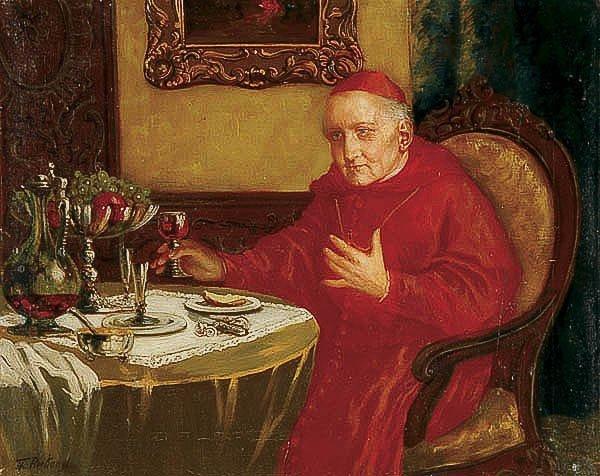 665: OIL PAINTING, Theodor Recknagel, religious