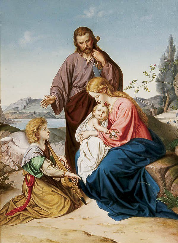 668: OIL PAINTING, attr to Johann Friedrich Overbeck, r