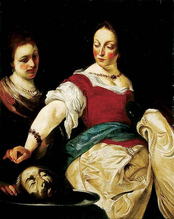 670: OIL PAINTING, after Bernardo Strozzi, religious