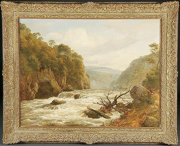 676: OIL PAINTING, Edmund Gill, landscape
