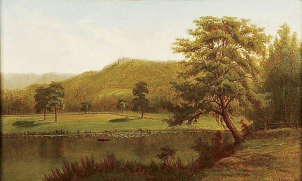677: OIL PAINTING, William H. Langworthy, landscape
