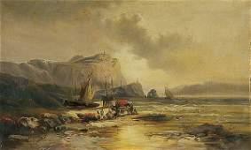678 OIL PAINTING Franz Emile Krause landscape