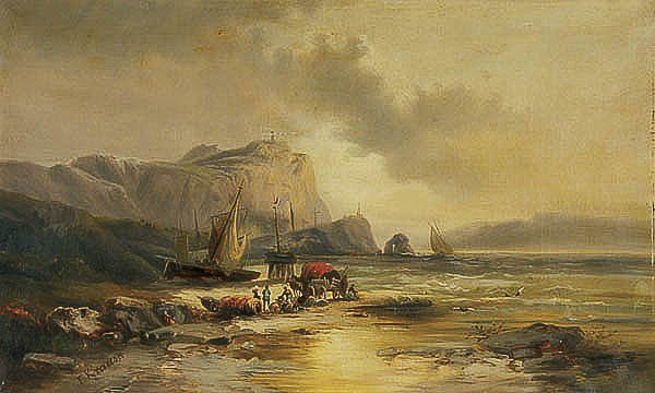 678: OIL PAINTING, Franz Emile Krause, landscape