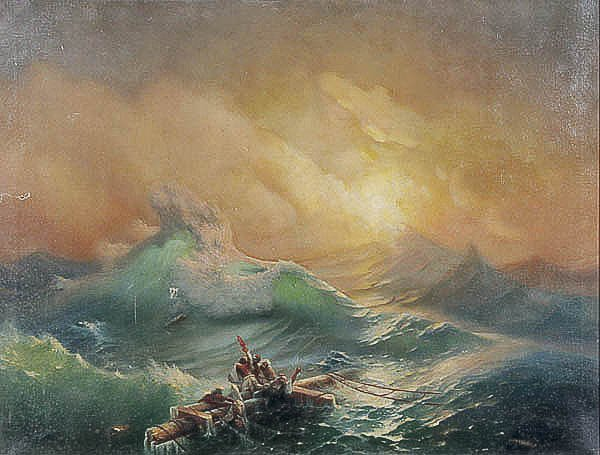 679: OIL PAINTING, after Ivan Aivazovsky, seascape