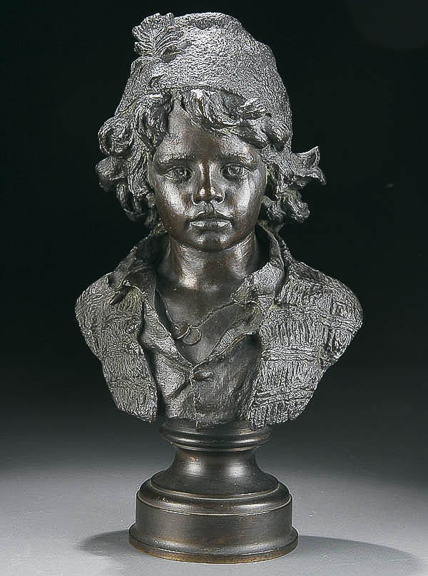 740: BRONZE SCULPTURE, Johann Pollak
