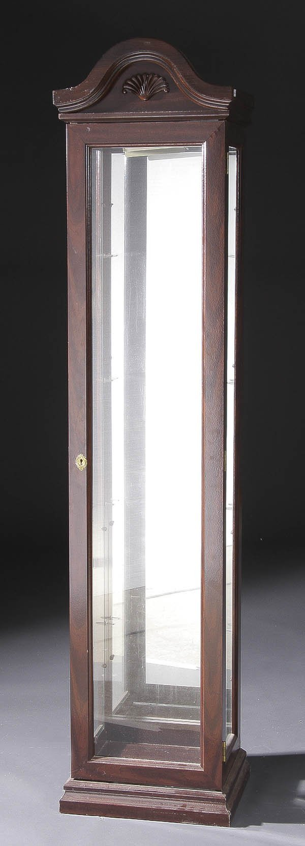 1202: A LLADRO DEALERS DISPLAY CABINET chrome & glass w - 3