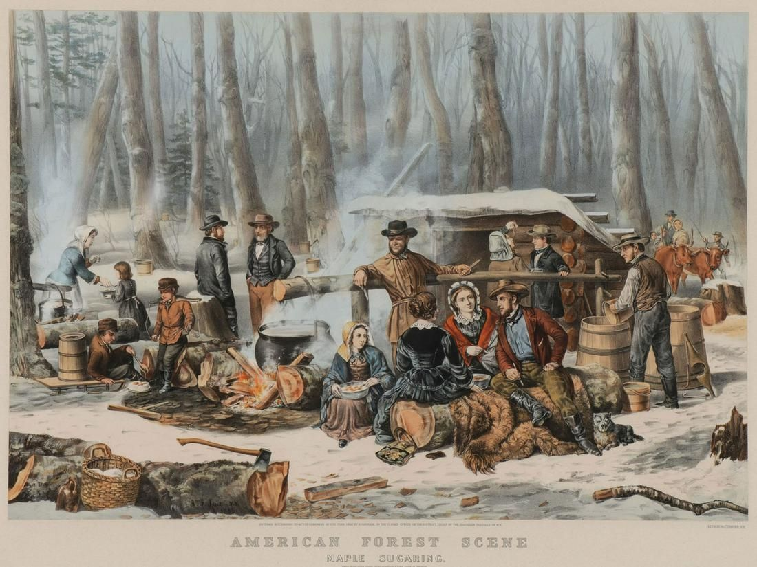 LARGE CURRIER & IVES LITHOGRAPH 1856