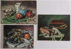 THREE SIGNED FRENCH PAINTINGS