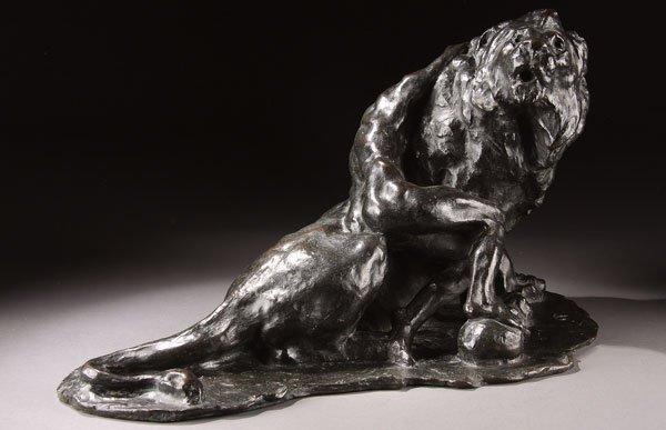 6: Bronze, Arthur Putnam (American), Man and Lion