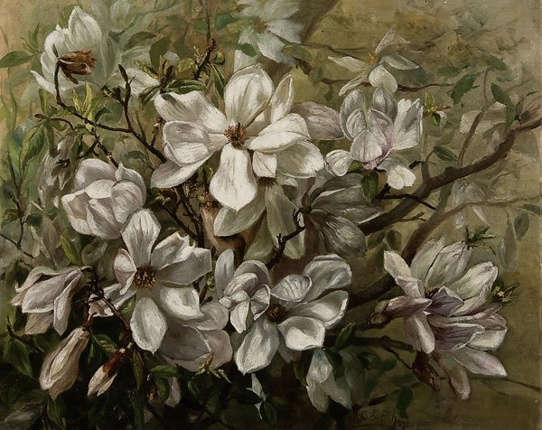 11: Painting, Marie Griffith (American) Floral