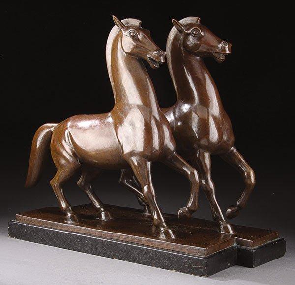 12: Bronze, Joseph Colette (American) Horses