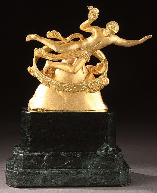 13: Bronze, after Paul Manship (American) Prometheus