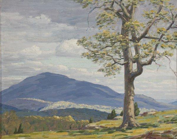 19: Painting, Andrew Schwartz (American) Landscape