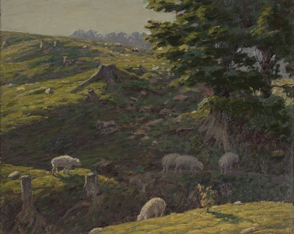 20: Painting, Andrew Schwartz (American) Sheep