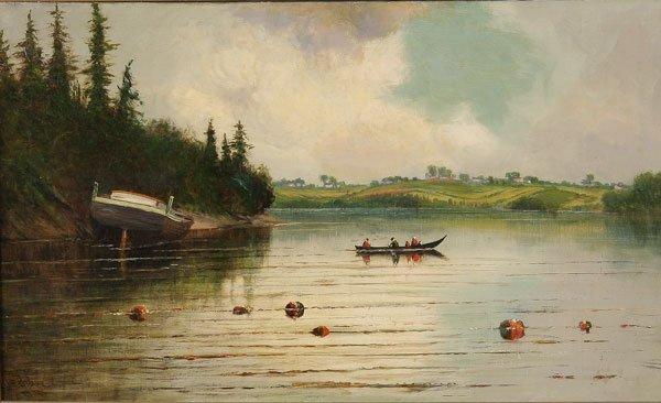 22: Painting, James Everett Stuart (American) Landscape