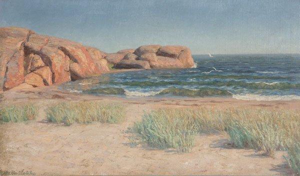 23: Painting, Marie Lokke (American) Seascape
