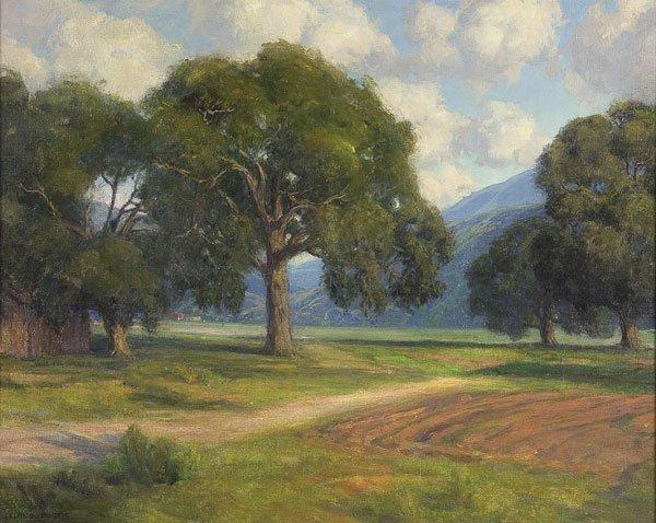 24: Painting, Leland Curtis (American) Landscape