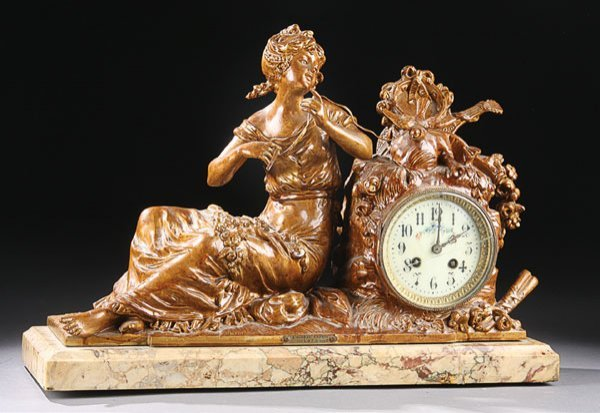 166: French Louis XVI style mantle clock