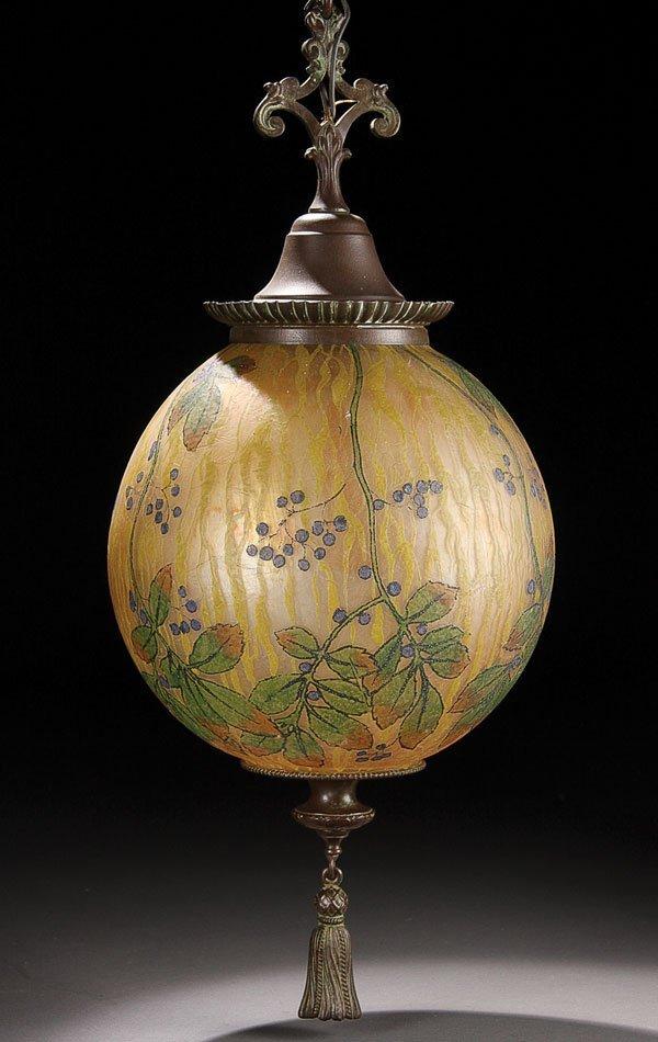449: Lighting, Handel glass Teroma chandelier