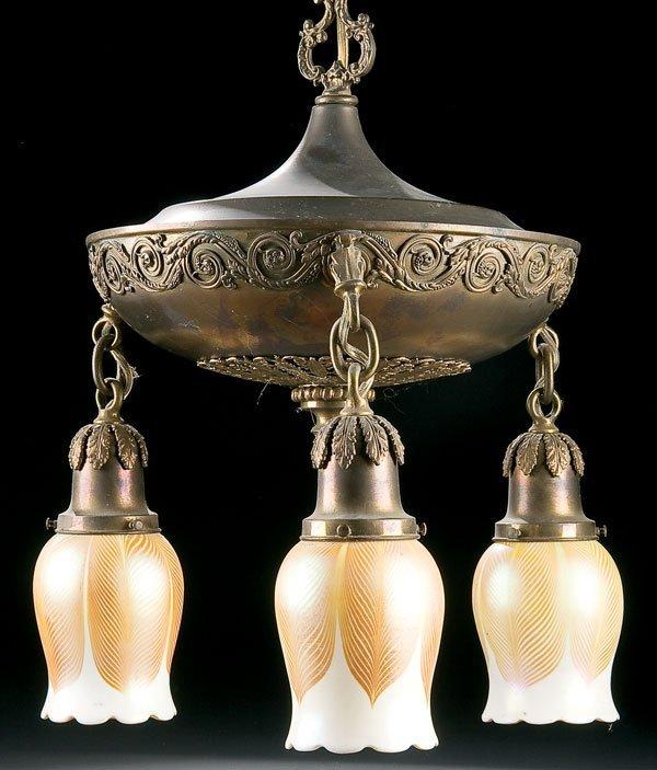 450: Lighting, Steuben art glass chandelier