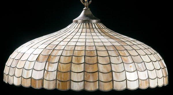 452: Lighting, Williamson glass hanging lamp shade