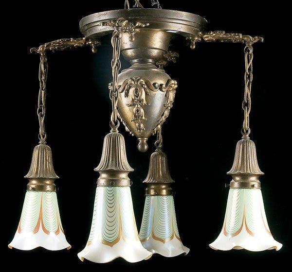 453: Lighting, Stueben art glass chandelier