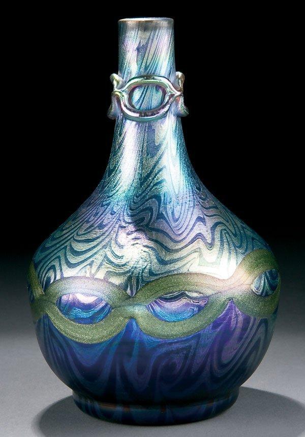 459: L.C. Tiffany glass vase