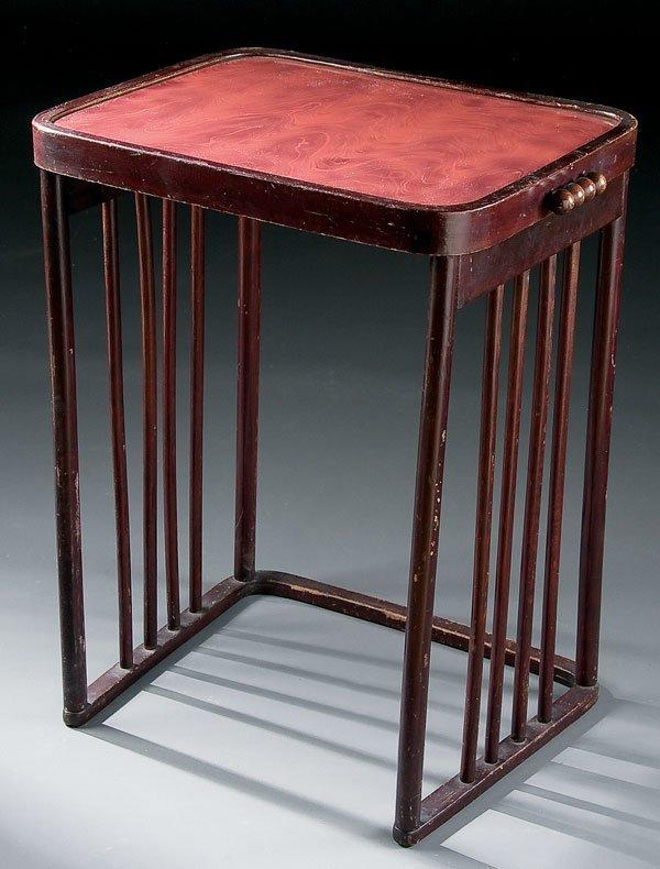 466: Furniture, Joseph Hoffmann Art Deco nesting table