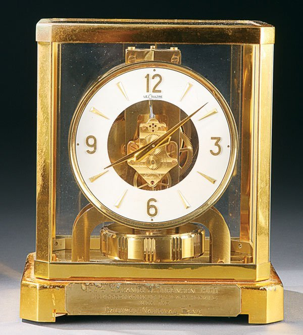 468: Le Coultre Atmos Swiss presentation clock