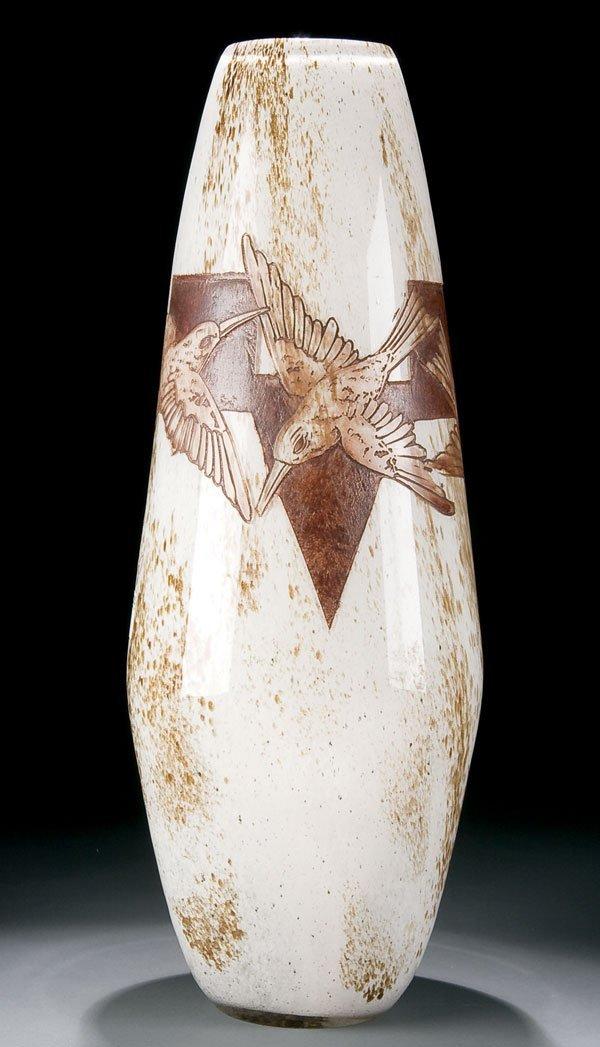 470: Legras Art Deco cameo glass floor vase