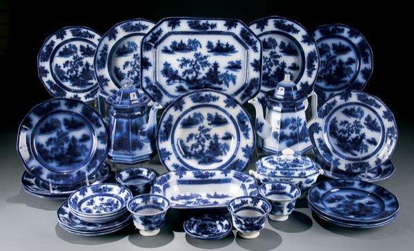 611: Wedgwood Flow Blue Dinnerware Chapoo