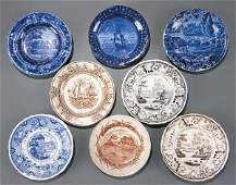 621: Historical Staffordshire Cup Plates