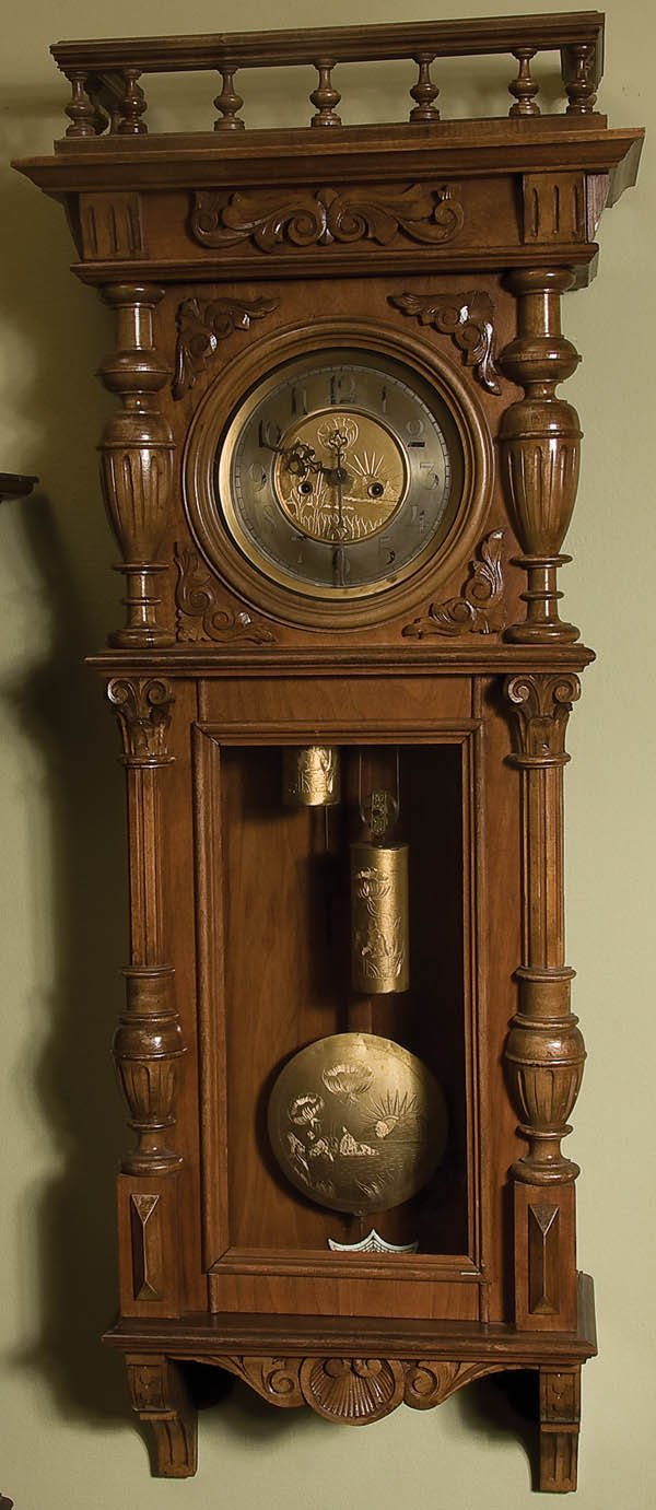 5: WALNUT VIENNA REGULATOR CLOCK