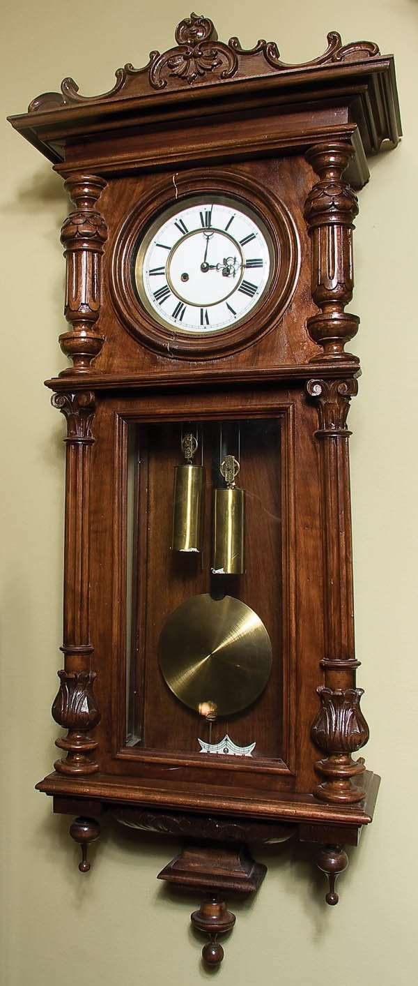 6: WALNUT VIENNA REGULATOR CLOCK
