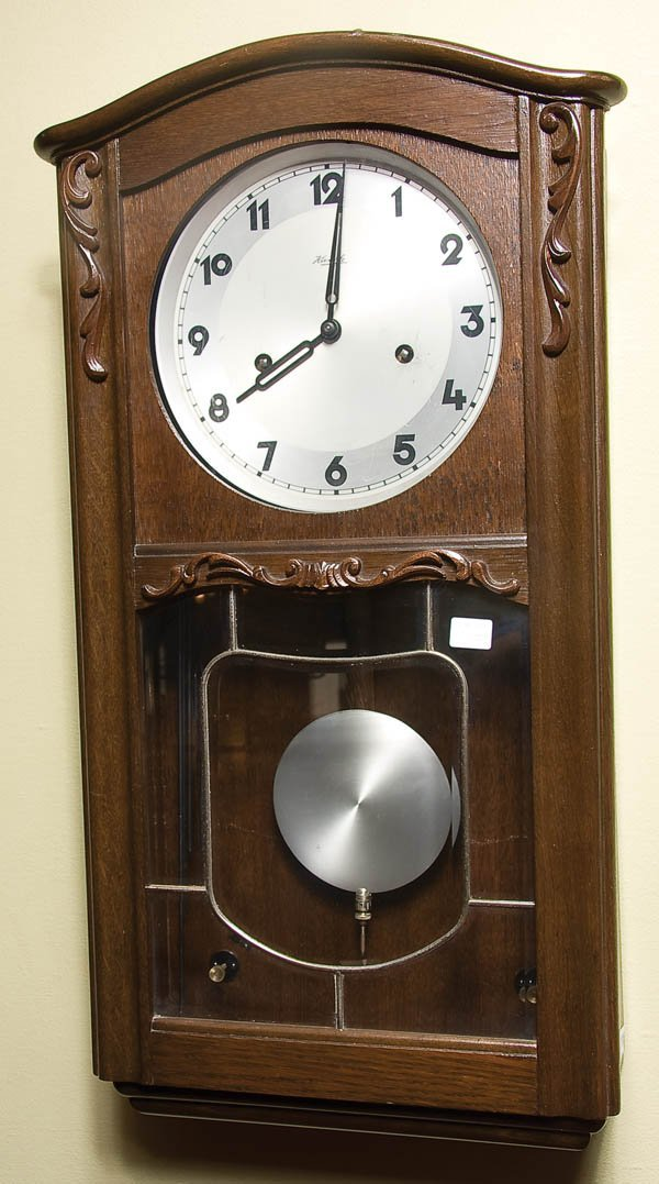 8: GERMAN OAK WALL REGULATOR CLOCK