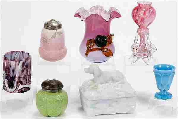 VICTORIAN GLASS LOT