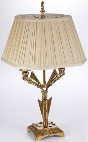 ART DECO BRASS TABLE LAMP