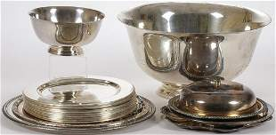 GOOD SILVER PLATE GROUP