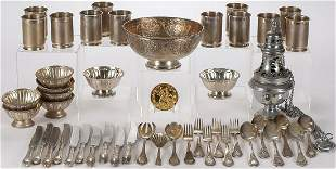 RUSSIAN & OTHER SILVER PLATE GROUP
